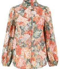blouse met bloemenprint rositta  roze