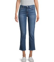 7 for all mankind women's kimmie crop flare jeans - bayview - size 23 (00)