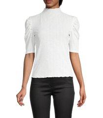 bb dakota women's sleeve it be rib-knit top - black - size l