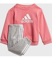 conjunto adidas performance i bos jog ft rosa - calce regular