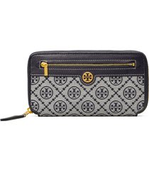 tory burch tory buch t monogram jacquard continental wallet in tory navy at nordstrom