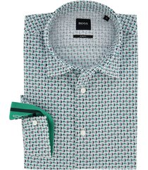 hugo boss overhemd groen camera print