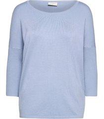 fqj -pu stickad tröja blå free/quent