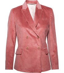 d1. wide wale cord blazer blazer colbert roze gant