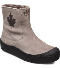 quebec base shoes boots ankle boots ankle boots flat heel grå canada snow
