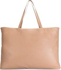 mansur gavriel reversible large pillow tote bag - brown