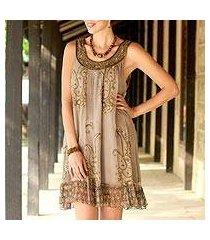 embellished dress, 'golden paisley' (india)
