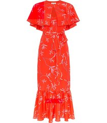 margarita cape dress red