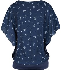 blouse van crêpe georgette, korte mouw