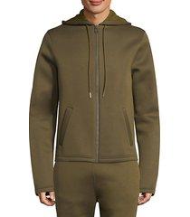 cotton zip-front hoodie