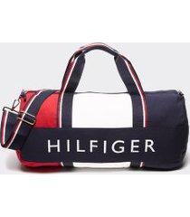 tommy hilfiger men's hilfiger duffle bag apple red/sky captain/bright white -