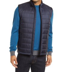 men's bugatchi quilted vest, size x-large - blue