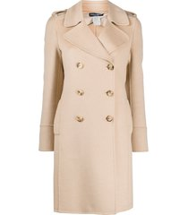 dolce & gabbana pre-owned 2000s double-breasted thigh-length coat -