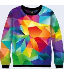 2017   geometry сolored crystals 3d simbol sign  sveatshirt pullover svitshot  n