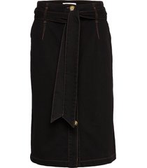 able skirt knälång kjol svart blanche