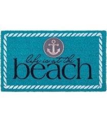 "fab habitat doormat life is at the beach 18"" x 30"", non-slip, durable bedding"