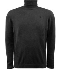eagle & brown turtleneck trui organic cotton donkergrijs