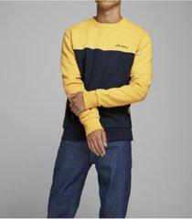 jack & jones men's pipe contrast sweatshirt