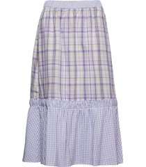 nita skirt knälång kjol lila inwear