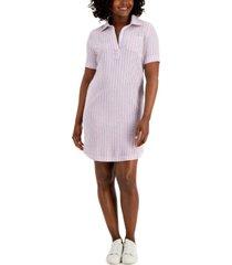 karen scott petite seersucker dress, created for macy's