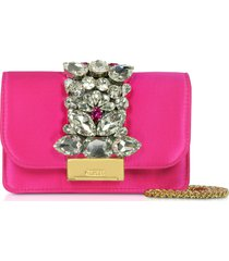 gedebe designer handbags, satin mini cliky clutch