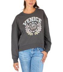 rebellious one juniors' venice graphic sweatshirt