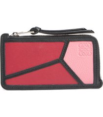 women's loewe puzzle leather zip coin case -