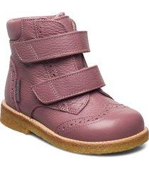 boots - flat - with velcro vinterkängor med kardborreband rosa angulus