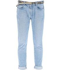 stella mccartney belted skinny jeans
