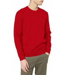 sweater rojo tommy hilfiger wcc classic cotton crew neck