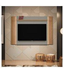 painel para tv até 60 polegadas aurora com led amêndoa e titânio