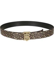 burberry logo motif initials plaque belt