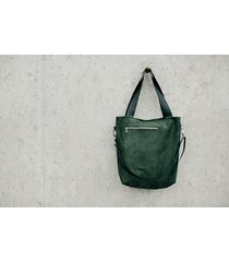marmollada - torebka tl z zielonego zamszu