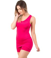 macaquinho saia feminino serra e mar modas liso rosa - rosa - feminino - poliã©ster - dafiti