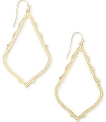 kendra scott detailed drop earrings