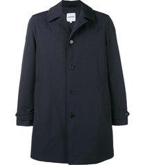 aspesi loose fitted coat - blue