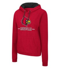 colosseum louisville cardinals women's genius hooded sweatshirt