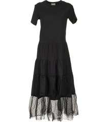red valentino black cotton dress with tulle