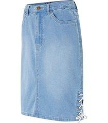 gonna di jeans elasticizzata con stringatura (blu) - john baner jeanswear