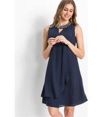 jurk met gerecycled polyester