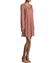 zigzag a-line dress