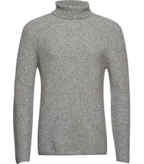 rib roller neck jumper knitwear turtlenecks grå junk de luxe