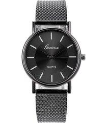 reloj pulsera mujer cuarzo pulso pu aa10 negro e