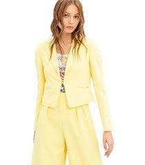 cropped blazer with pockets