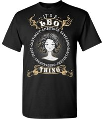 it's a leo zodiac t shirt