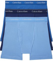 calvin klein 3-pack boxer briefs, size x-large in blue bay/minnow/medieval at nordstrom