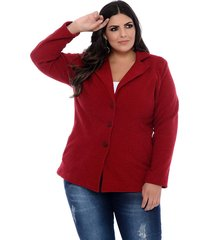 casaco trench coat art final plus size july vermelho