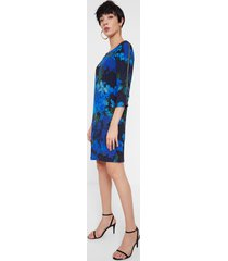 straight dress floral camouflage - blue - 46