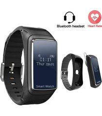 smartwatch, pulsera con audifonos bluetooth -negro