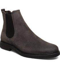 cast crepe chelsea suede shoes chelsea boots grå royal republiq